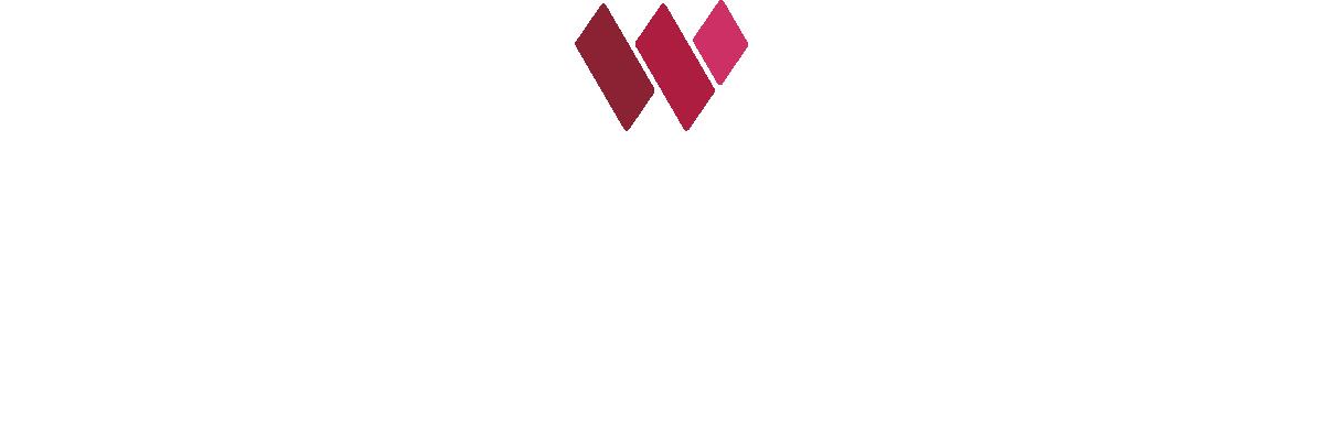 the westbury color logo white text
